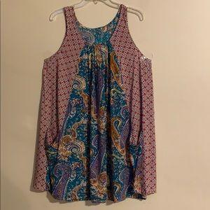 New Umgee paisley pocket dress